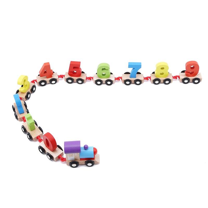 Gran oferta, Mini tren Digital, alfabeto de madera, número educativo, bloques de construcción para niños, juguetes de tren, herramientas de ferrocarril, juguetes para niños