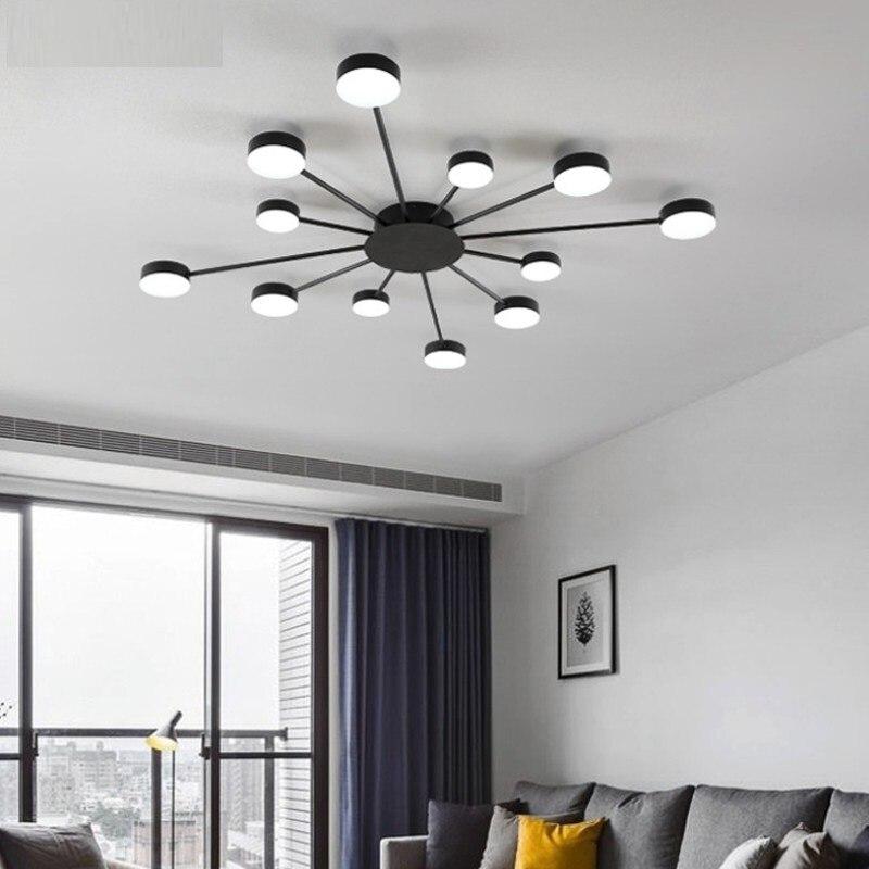 فلوش جبل الشمال سقف ليد حديث أضواء لغرفة المعيشة غرفة نوم المنزل ديكو مصباح ثريا سقف الإضاءة الفاخرة الحديثة