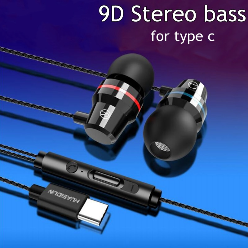 Auricular de Control remoto estéreo tipo C de 3,5 MM para Samsung s9 s8 Oneplus para Huawei P20 P10 Xiaomi MI8 Mi9 auriculares con micrófono