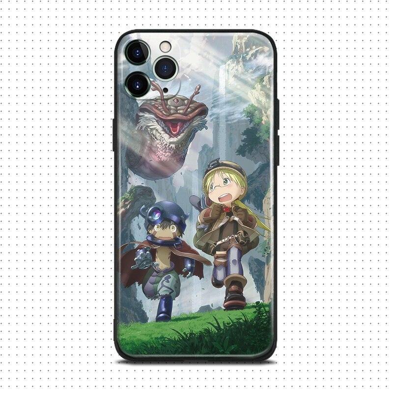 Hecho en abyss anime Riko Reg para iPhone se 6 6s 7 8 plus x xr xs 11 pro max suave funda de silicona para teléfono