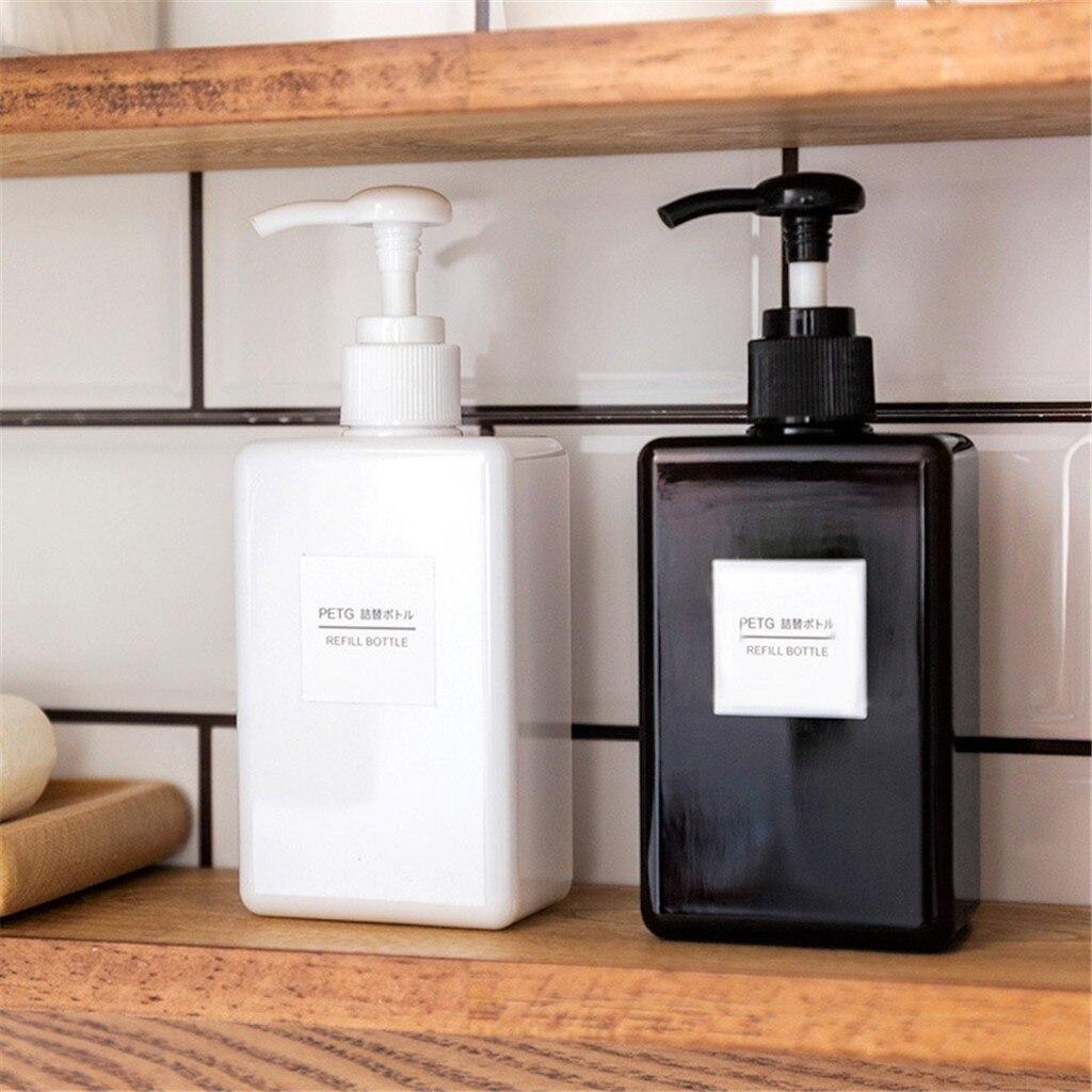 Botella de ducha para champú, dispensador de loción rellenable vacío, 100ml, Económico