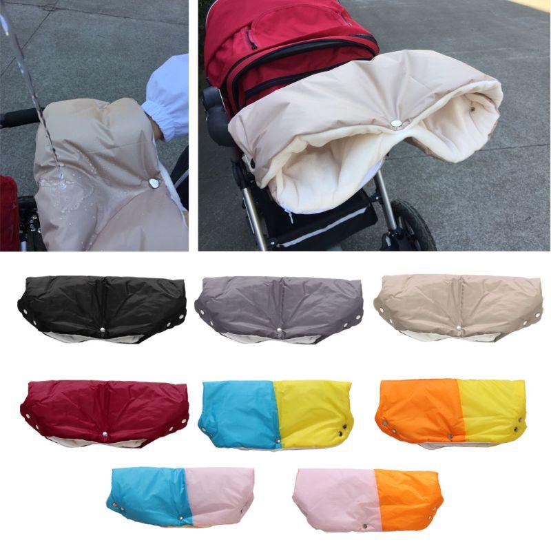 Guantes calientes para cochecito de invierno para niños, cochecito de mano, manopla, accesorio para cochecito impermeable, cochecito de bebé, Clutch, guantes de lana