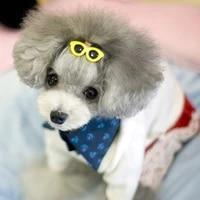cute pet dog glasses hair clip mixed color decorative sunglasses headdress photo props dogs cat accessories