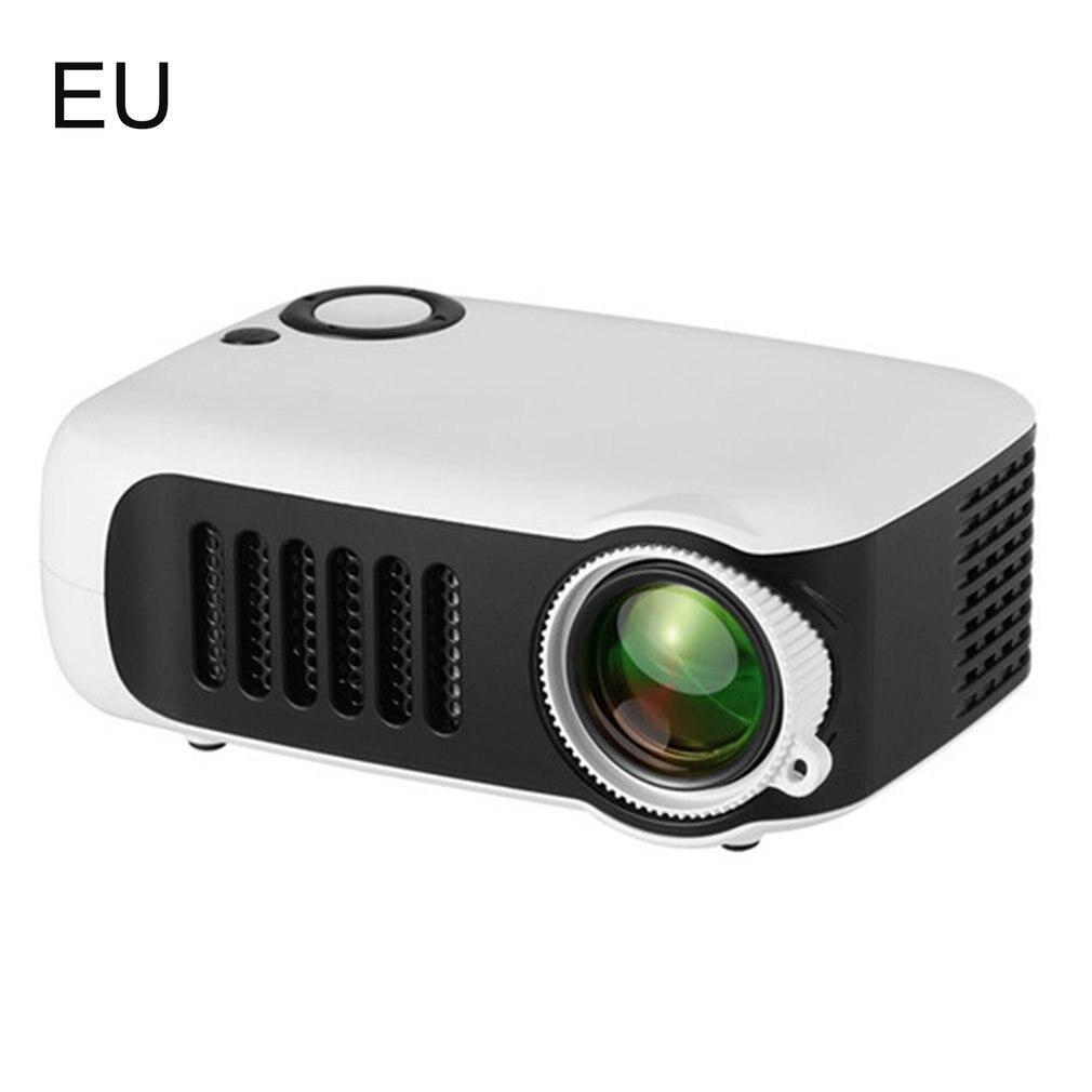 جهاز عرض محمولة صغيرة LED عالية الوضوح المنزل في الهواء الطلق متعاطي المخدرات USB فيلم قابلة للشحن الفيديو المحمولة العارض