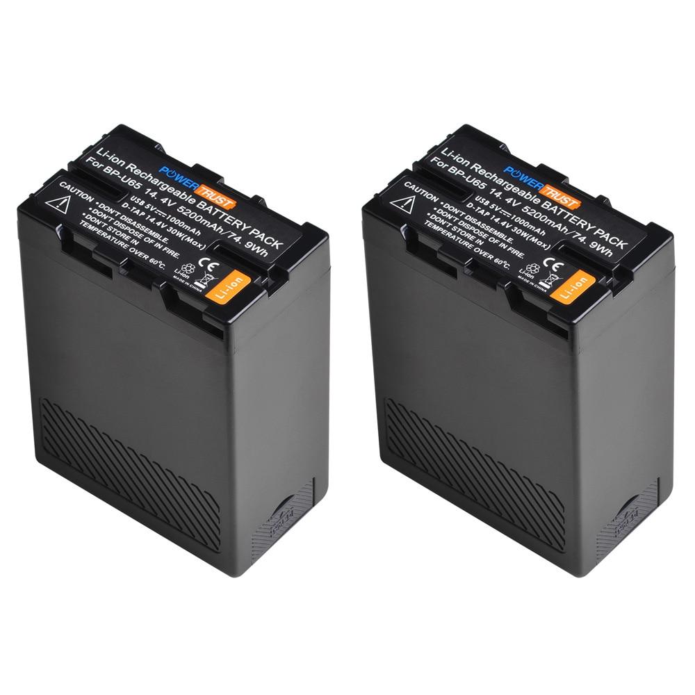 5200mAh BP-U65 batería para Sony BP-U60 BP-U30 BP-U90 BP-U95 PMW-EX1 PMW-EX1R PMW-EX3...