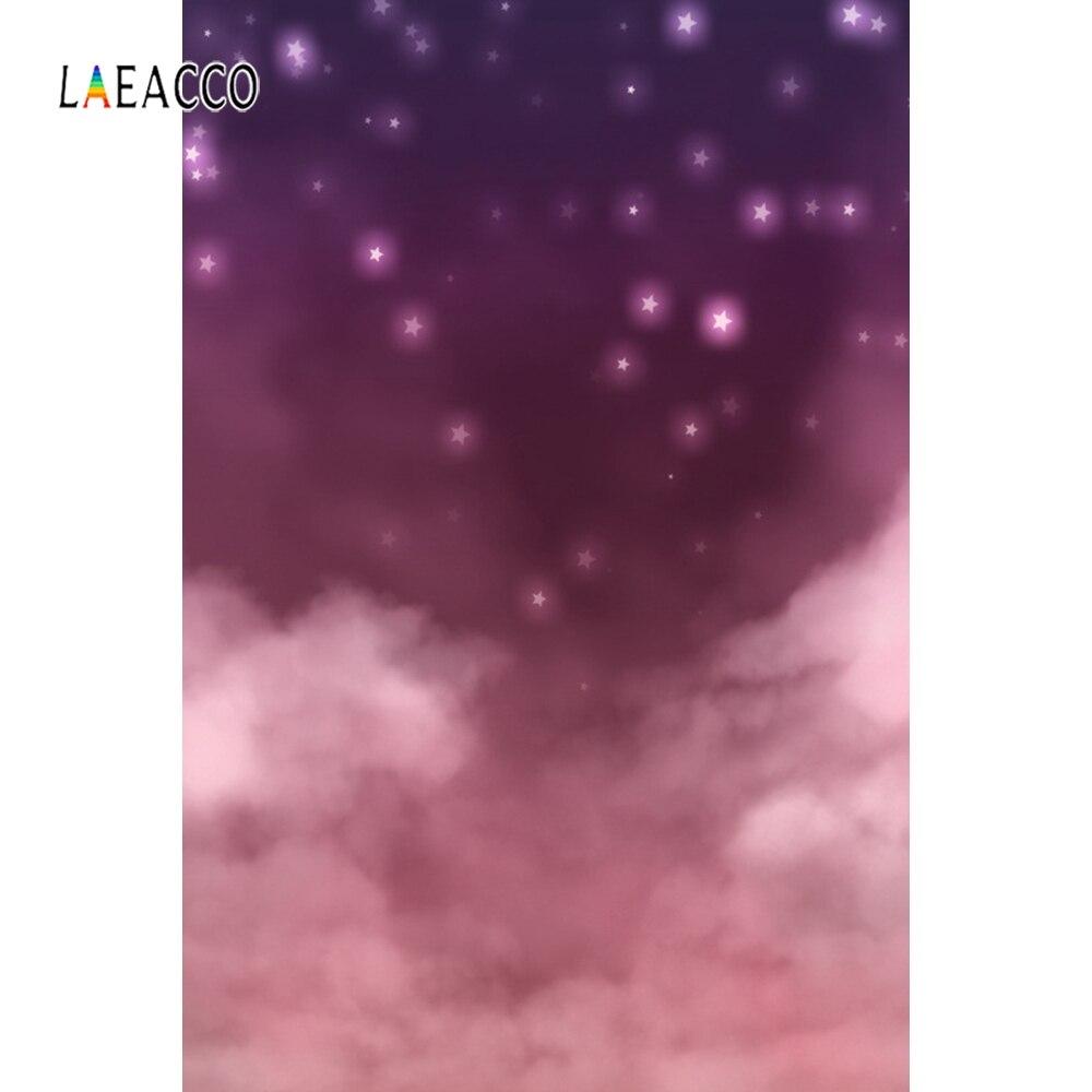 Laeacco centelleante luz de estrellas niebla nube noche escena fotografía fondos retrato bebé foto telones de fondo para la decoración del estudio de la foto