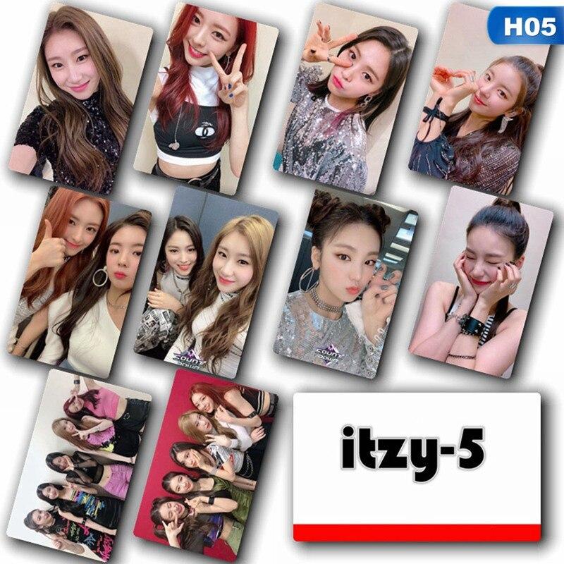 10 unids/set ITZY nuevo álbum tarjeta pegatina cristal tarjeta pegatinas juego de papelería