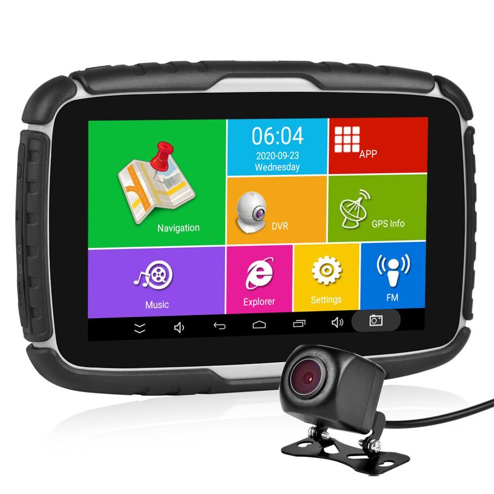 Fodsports 5.0 Motorcycle Android 6.0 GPS Navigation 720P Video Recorder Waterproof Bluetooth GPS Navigator Car Motorbike Cam DVR