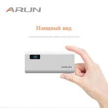 ARUN Power Bank 10000 мАч светодиодный дисплей портативное зарядное устройство 10000 мАч двойное внешнее зарядное usb-устройство для аккумулятора для Xiaomi Mi 9 8 i