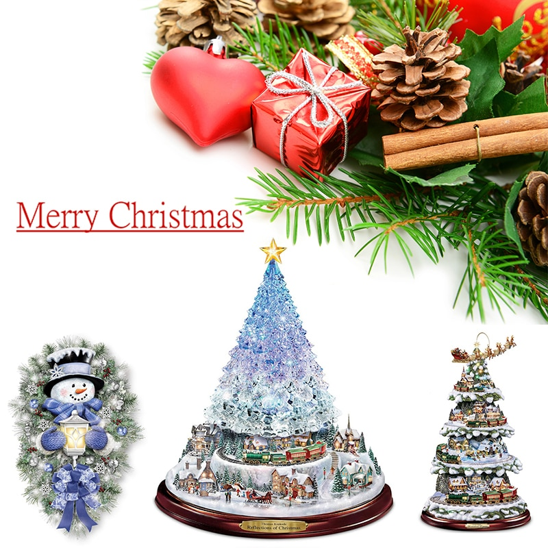 Christmas Decoration Santa Claus Big Christmas Tree Ornaments Accessories Sale for Home Indoor Window Door Wall Paste Stickers