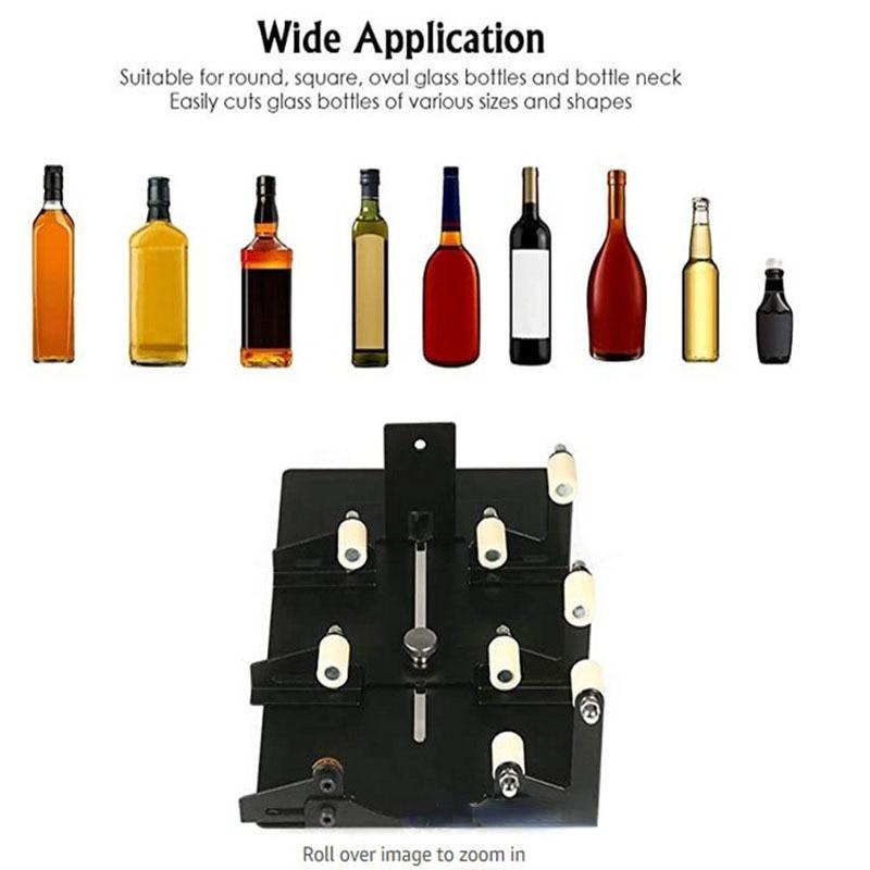 Резак для стеклянных бутылок из нержавеющей стали инструменты для резки можно резать квадратные бутылки многонаправленная Регулировка ру...