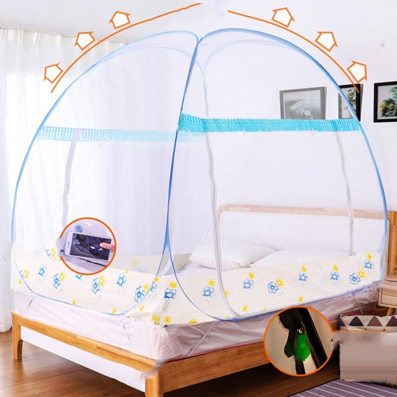 Tienda de campaña con mosquitero Yurt de estilo múltiple, sin instalación, para el hogar, cama doble, 1,2 m, mosquitera plegable, portátil, para Camping