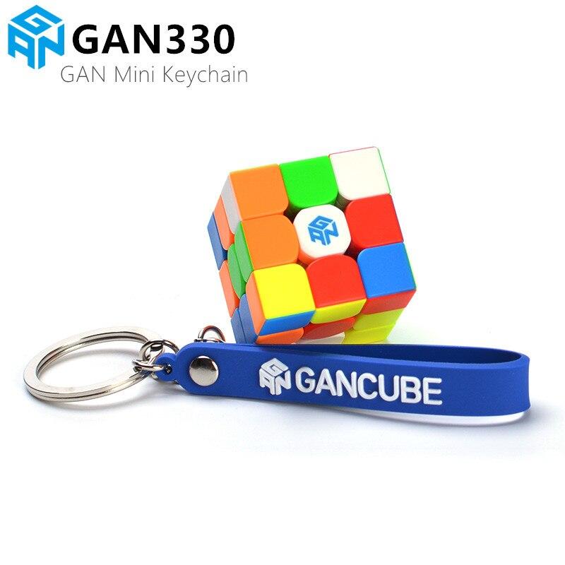 chaveiro de cubo magico gan330 mini cubo magico 3x3x3 gan 330 quebra cabeca de velocidade