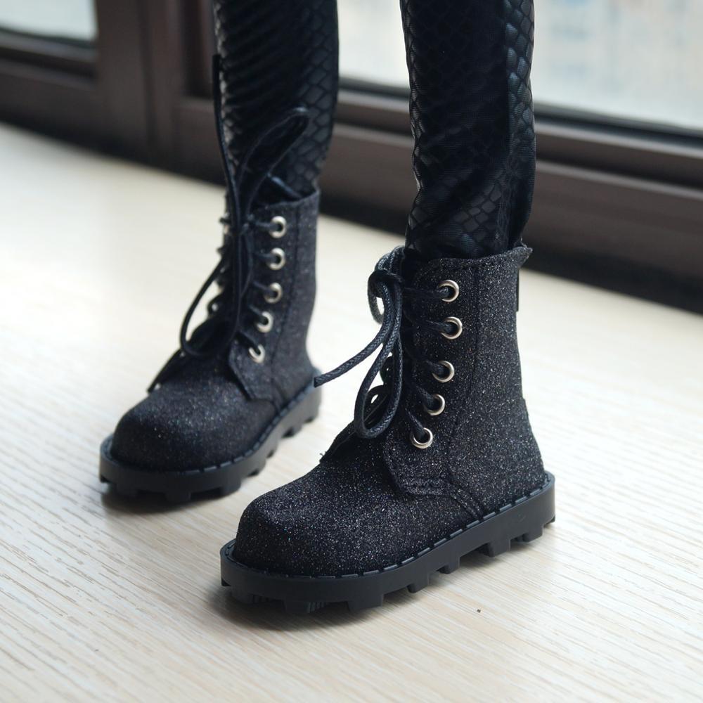 "Zapatos BJD cielo estrellado de cuero sintético botas cortas zapatos para 1/3 60cm 24 ""alto 1/4 1/6 MSD YOSD BJD muñeca SD DK DZ AOD DD muñeca"
