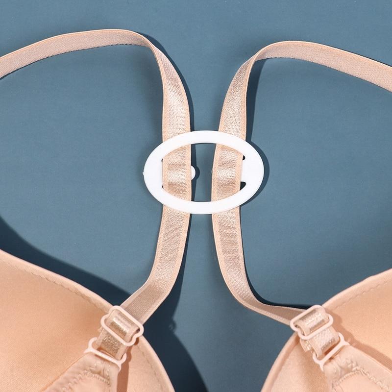 3/4 Pcs/set Hot Sale Fashion Webbing Bra Buckles Shadow-Shaped Underwear Fasteners Bra Clips Strap Holders Invisible Buckle