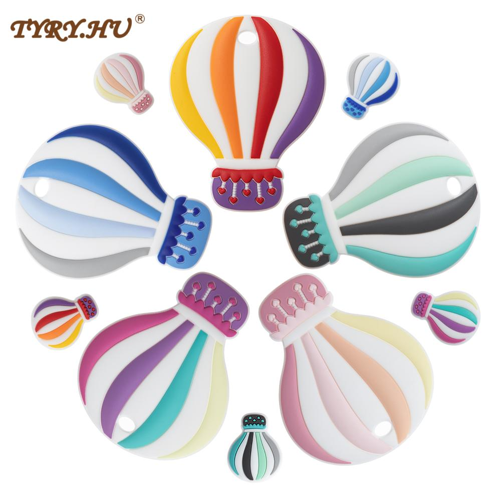 TYRY.HU 5pc Silicone Ballon Beads Baby Silicone Hot Air Teethers Dummy Cartoon Pacifier Toy For Pacifier Chains BPA Free