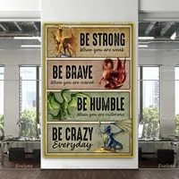 dragon lovers poster be strong when you are weak be brave when you are scared poster home decor canvas wall art prints gift