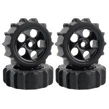 4Pcs RC 1/8 Paddel Schnee Sand Reifen Reifen Fit HPI AKA 1:8 Off-Road Buggy Räder 1:8 Off-straße Kurzen Karte Strand Reifen für RC Auto