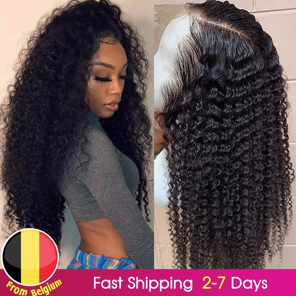 BEAUDIVA Brazilian Kinky Curly Human Hair Wig PrePlucked 13*4 Lace Front Human Hair Wigs with Baby H