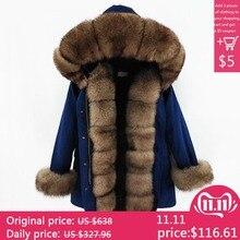 2019 winter jacket women new long parka real fur coat big raccoon fur fox fur collar hooded parkas thick outerwear stree style