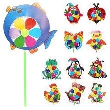 2020 neue Cartoon Tier Windmühle Wind Spinner Windrad Home Garten Yard Decor Kinder Spielzeug