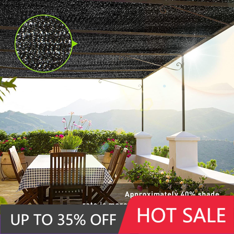 Black Shade Net Garden Greenhouse Shade Net Outdoor Swimming Pool Shade Net Car Sun Shade Cover Sun Protection Cloth