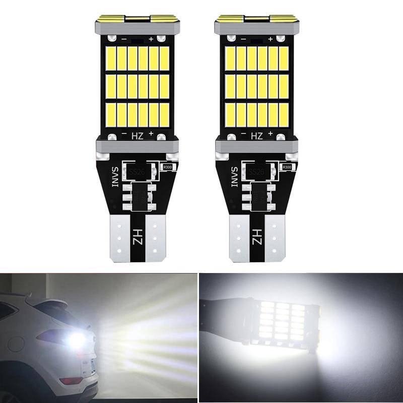 2 bombillas T15 W16W para Canbus 921 912, sin Error, luz de respaldo de marcha atrás para BMW, Audi, Toyota, Subaru, Peugeot, Nissan, Kia, Lada