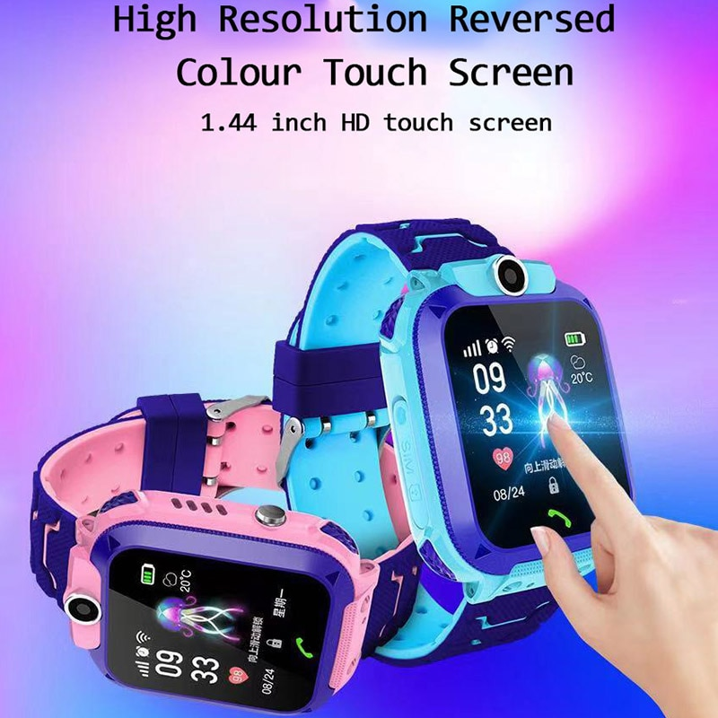 Q12 Children's Smart Watch SOS Phone Watch Smartwatch For Kids With Sim Card Photo Waterproof IP67 Kids Gift For IOS Android enlarge