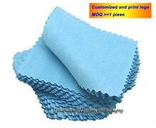 Bijoux en argent nettoyage nettoyant or chiffon de polissage 80x80mm moins cher Double côtés coton Flannels tissu