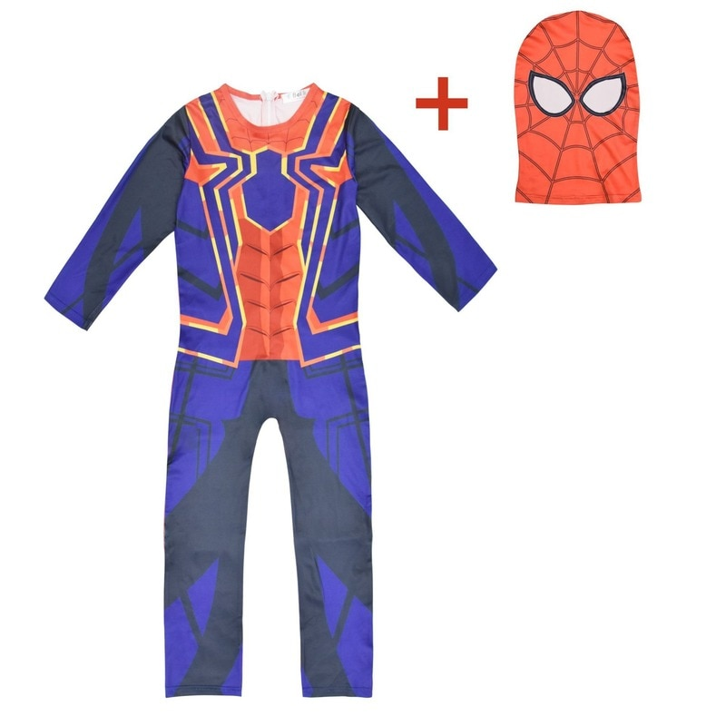2020 Halloween déguisement pour enfants Spiderman Cosplay vers araignée Cosplay Costume Spiderman motif body