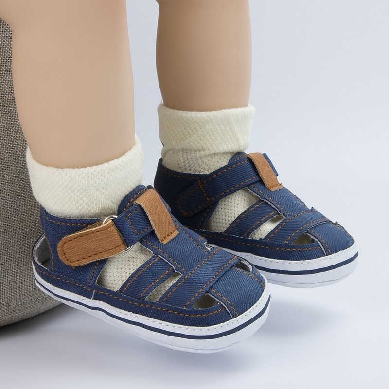 KIDSUN Baby Sandals Baby Girls Boys Shoes Solid Color Casual Cotton Flat Soft-sole Non-slip infant F