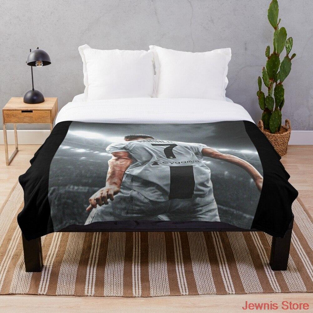 كريستيانو رونالدو رائع لاعب رمي بطانية الفانيلا شيربا المفرش الفراش أريكة نزهة الفراء بطانية ناعمة