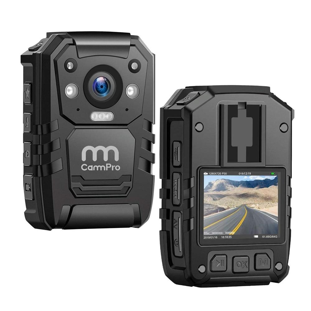 CammPro-كاميرا شرطة عالية الدقة i826 ، 1296 بكسل ، 128 جيجابايت ، محمولة ، للجسم ، IP66 ، مقاومة للماء ، مع GPS ، رؤية ليلية