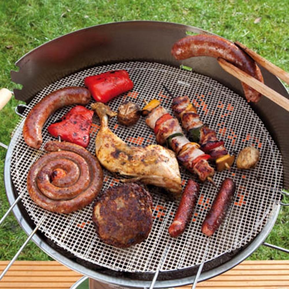 Frigideira antiaderente e redonda, forro para churrasco, ferramentas para forno, microondas, acessórios para churrasco ao ar livre