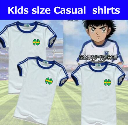 Kid Youth size camisetas de futbol equipment Shirts oliver atom Captain Tsubasa Jerseys,ATOM football cotton Men's clothes