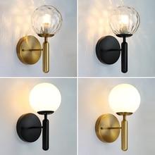 Nordic Modern Wall Lamp Beside Bedroom Glass Ball LED Wall Lights Fixtures Wandlamp Lighting Bathroom Mirror Stair Light