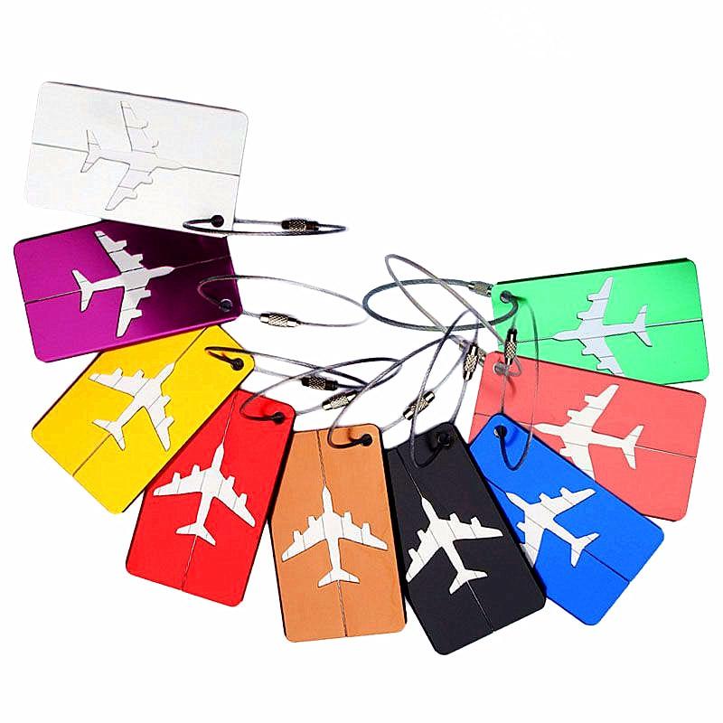 Portable Luggage Tag Boarding Flight Baggage Card  Fashion Aluminium Suitcase ID Address Holder Luggage Label Travel Accessories