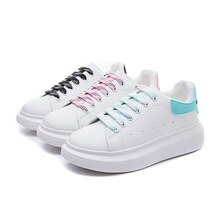 Womens White Sneakers Heighten Shoes Breathable Running Shoes For Women Casual Pink Flats Comfort Sp