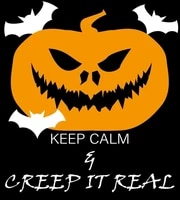 keep calm and creep it real poster funny art decor vintage aluminum retro metal tin sign painting decorative signs