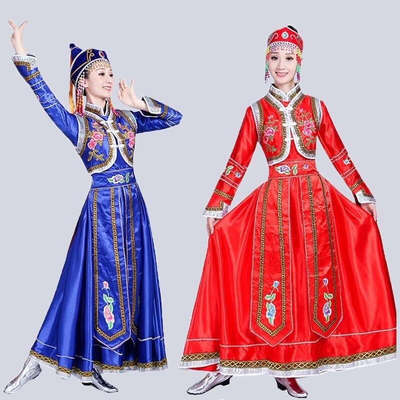 Songyuexia-فستان منغولي للنساء ، ملابس رقص منغولية داخلية ، ملابس أقلية للبالغين