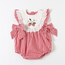ATUENDO Summer Cute Newborn Baby Romper 100% Cotton Fashion Soft Silk Girl's Clothes Kawaii Pink Inf