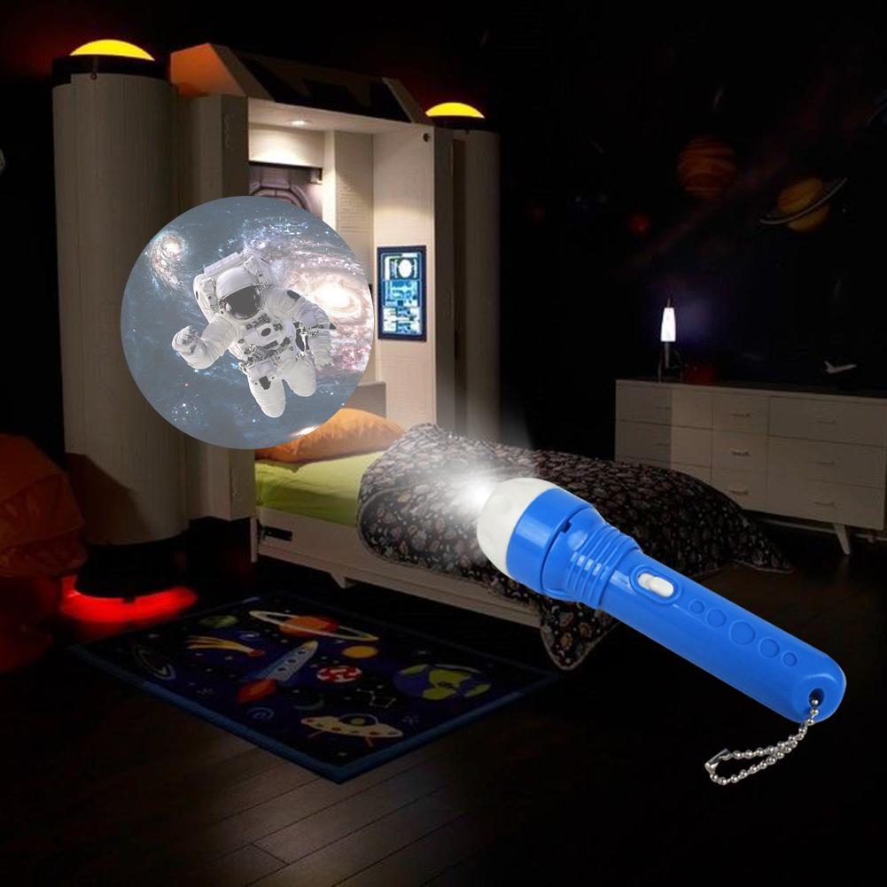 Flashlight Projector Lamp Toys For Baby Sleeping Story Children Dinosaur Sea World Light Up Toy For Kids Educational Sleep Light