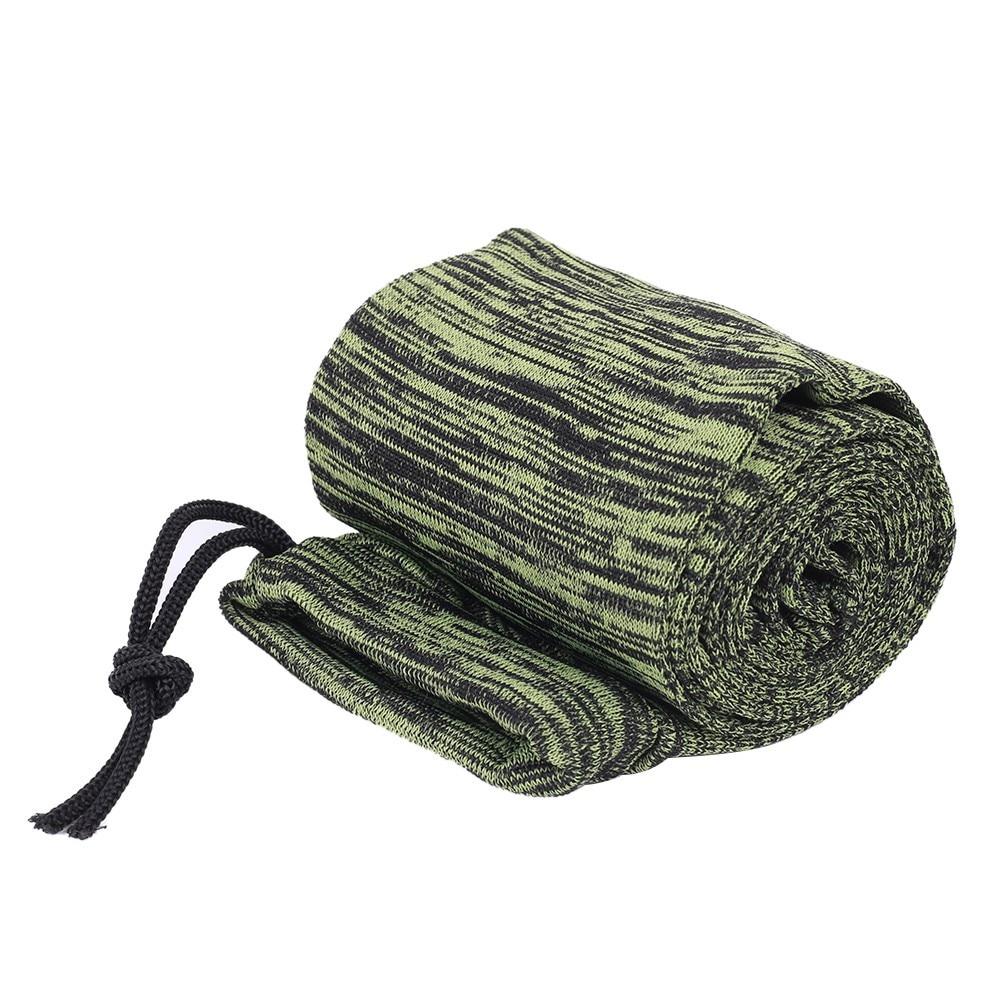 arma proteção capa saco silicone tratado tiro vara de pesca manga caso