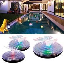 1 Pcs Solar Led Rgb Water Floating Light Zwembad Night Lamp Waterdicht Vlinder/Libelle Kleur Licht Outdoor Vijver decora