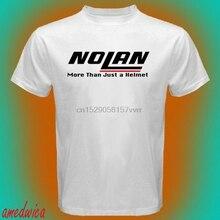 NOLAN Helmets Racing More Than Just a Helmet Logo Men White T-Shirt
