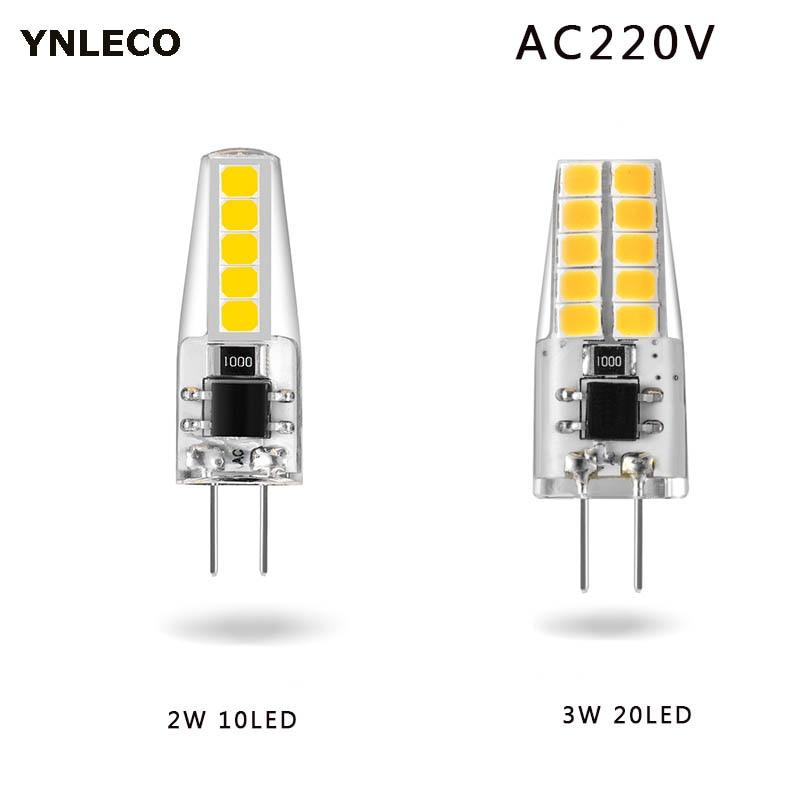 G4 LED bulb AC 220V 230V 2W 3W Lampada Lampara LED G4 Lamp ampul 10led 20led 360 Beam Angle 2835SMD Replace 20W 30W Halogen Lamp