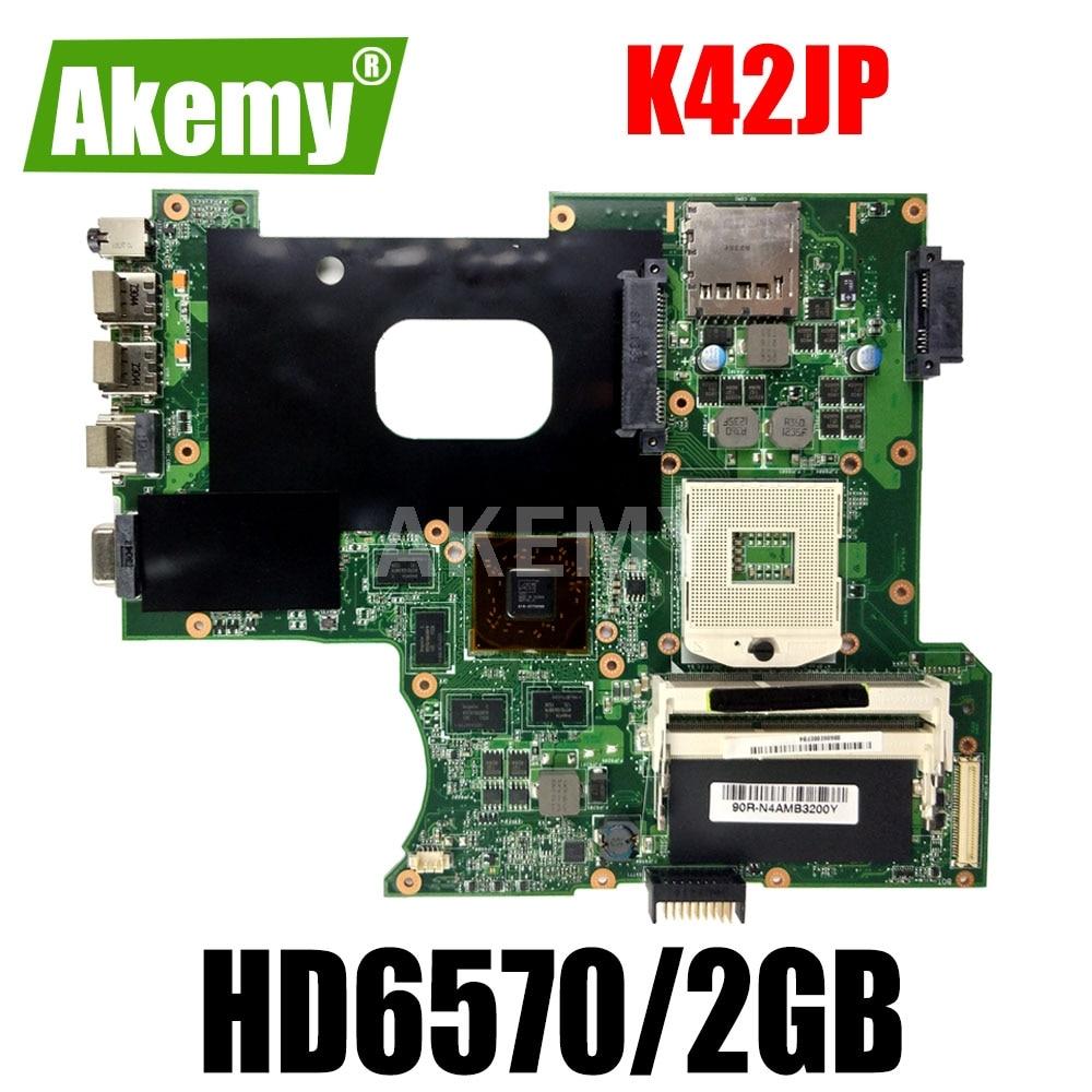 Placa base Akemy K42JP K42JA para ordenador portátil para For For For For Asus K42JP K42JV K42JA REV 2,0, placa base original HD6570/2GB