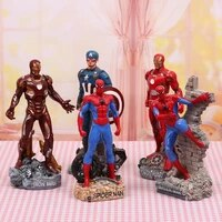 marvel avengers character cartoon anime hand doll model boy creative home decoration ornament gift