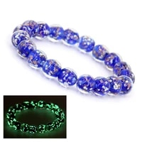 my blue luminous bracelets for women charms for jewelry making girls bracelet nocturnal light quicksand beads yoga j%c3%b3ias gift