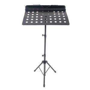 【US Warehouse】Adjustable Height Folding Music Stand Black